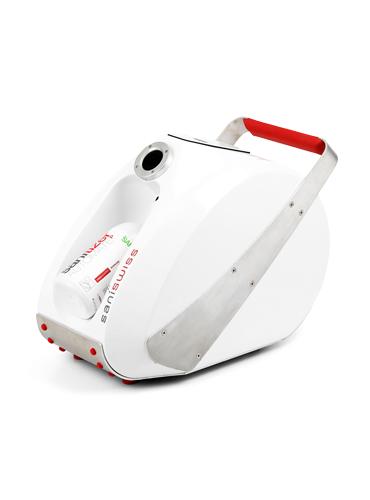 Saniswiss Automat aHP ist ein no-touch System für automatisierte, aerogene Raumdesinfektion.