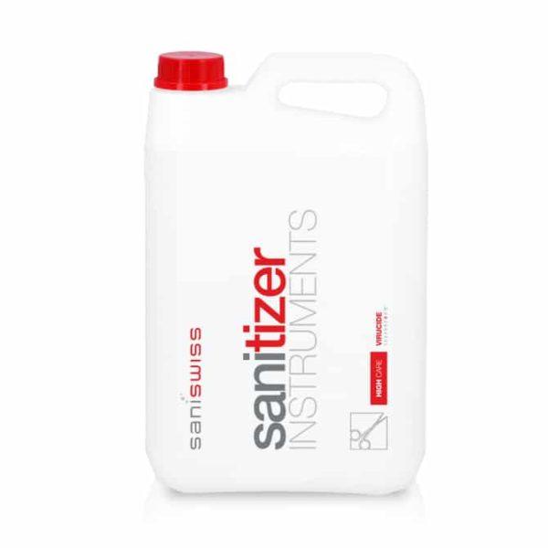 Saniswiss biosanitizer I ist ein hyperkonzentrierter Desinfektionsreiniger, er ist für die manuelle Reinigung und Desinfektion von wärmebeständigen, medizinischen Geräten geeignet.