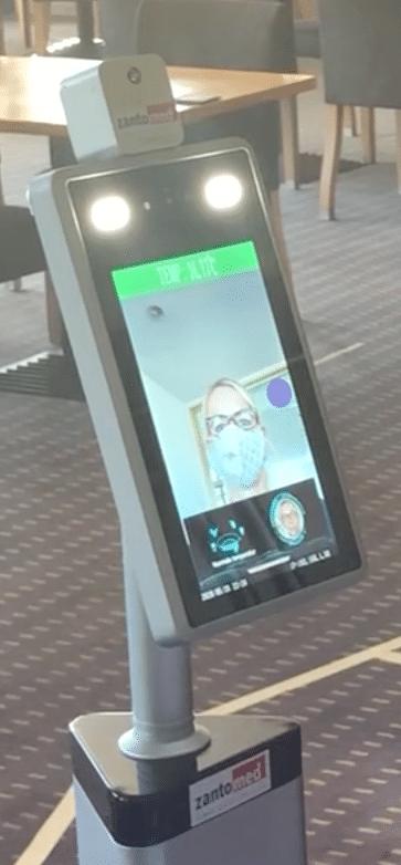 SecuriCheck Display mit Temperaturcheck