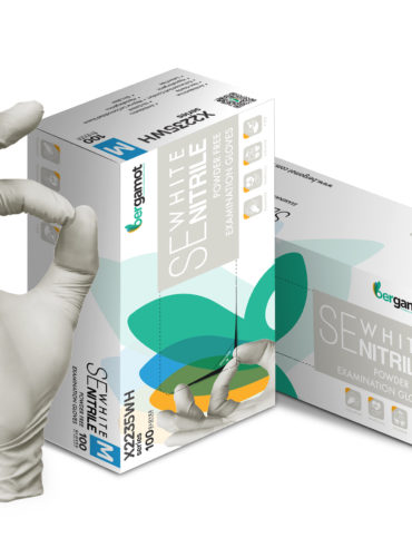 SE White Nitril Handschuh